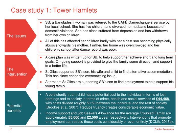 Case study 1: Tower Hamlets
