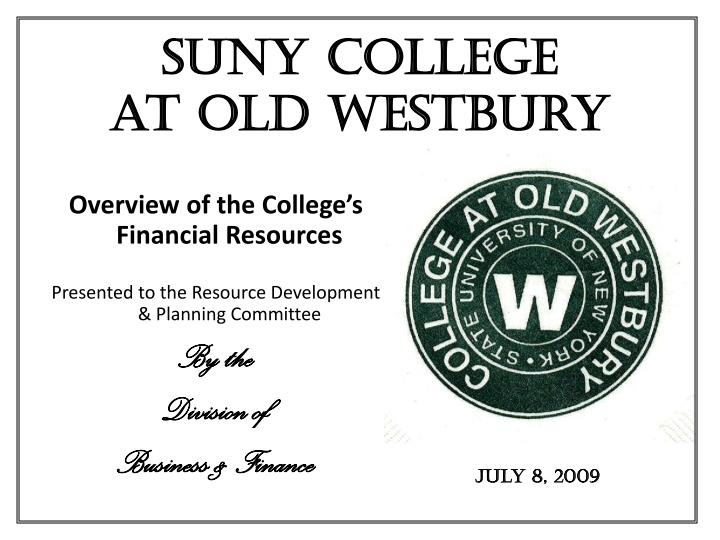 the six mission statement and guiding principles of suny college at old westbury