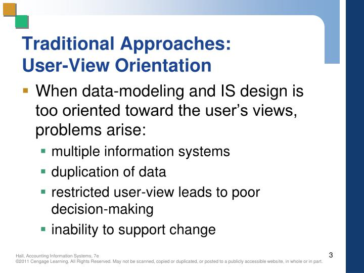 Traditional approaches user view orientation