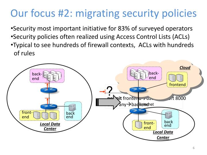 Our focus #2: migrating security policies