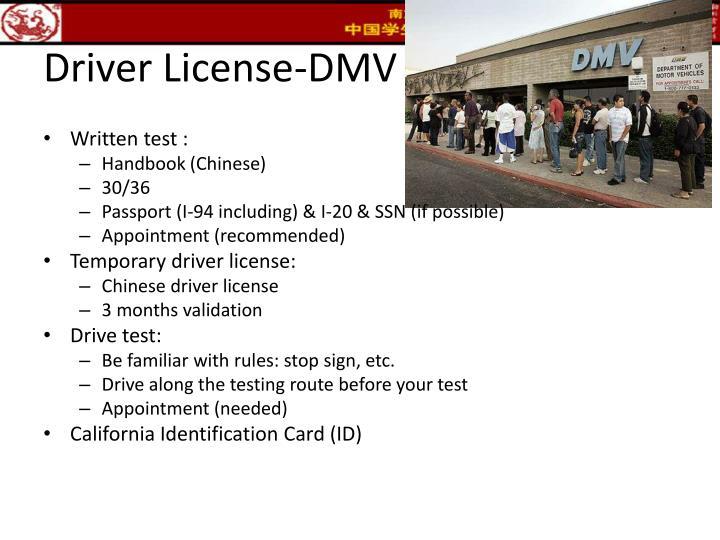 Driver License-DMV