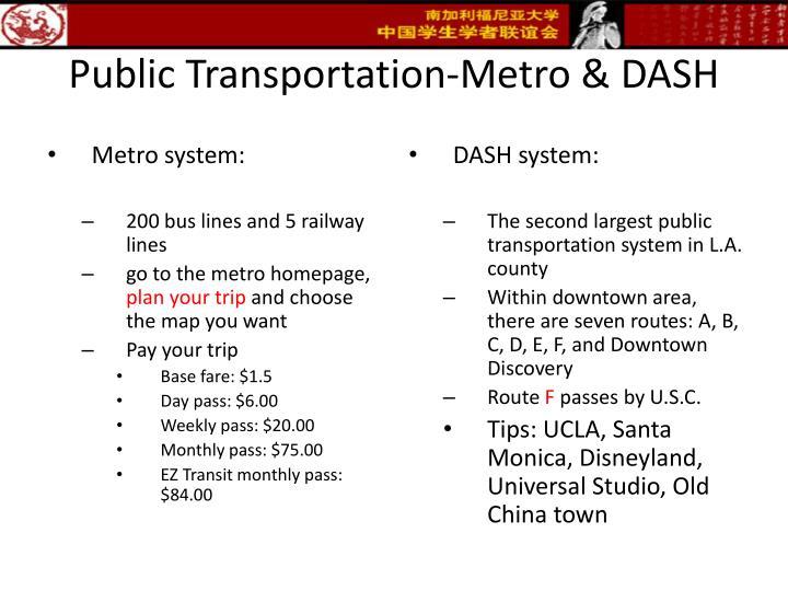 Public Transportation-Metro & DASH
