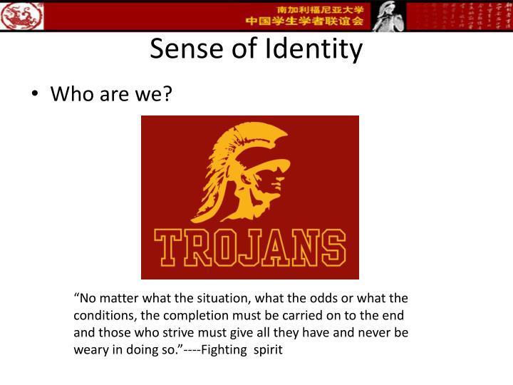 Sense of Identity
