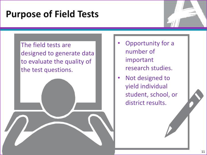 Purpose of Field Tests