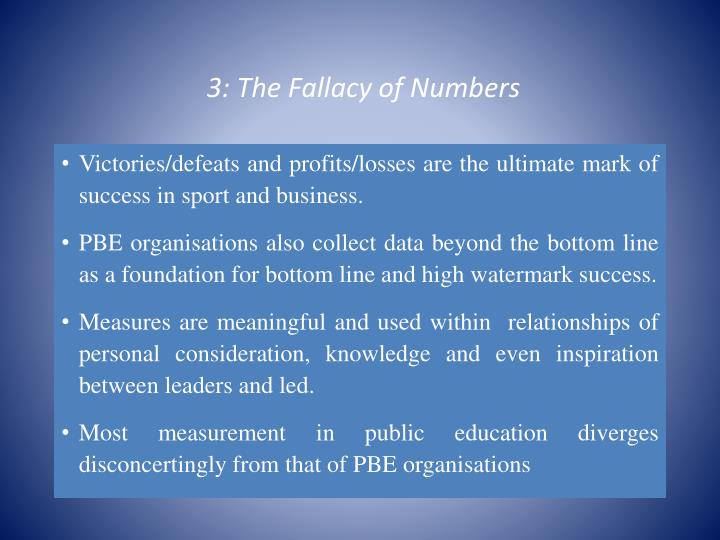 3: The Fallacy of Numbers