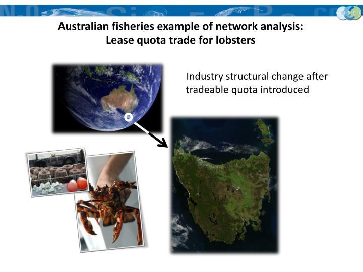 Australian fisheries example of network analysis: