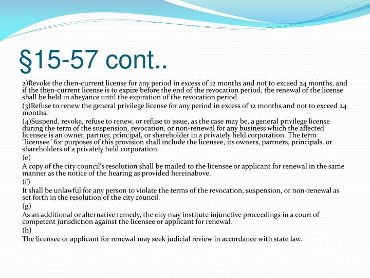 §15-57 cont..