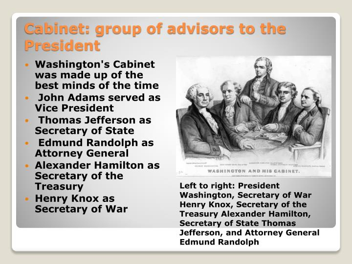 political parties in george washingtons cabinet And in 1793, thomas jefferson resigned his seat in washington's cabinet to lead the opposition to the administration—a move that led directly to the formation of the first american political parties.