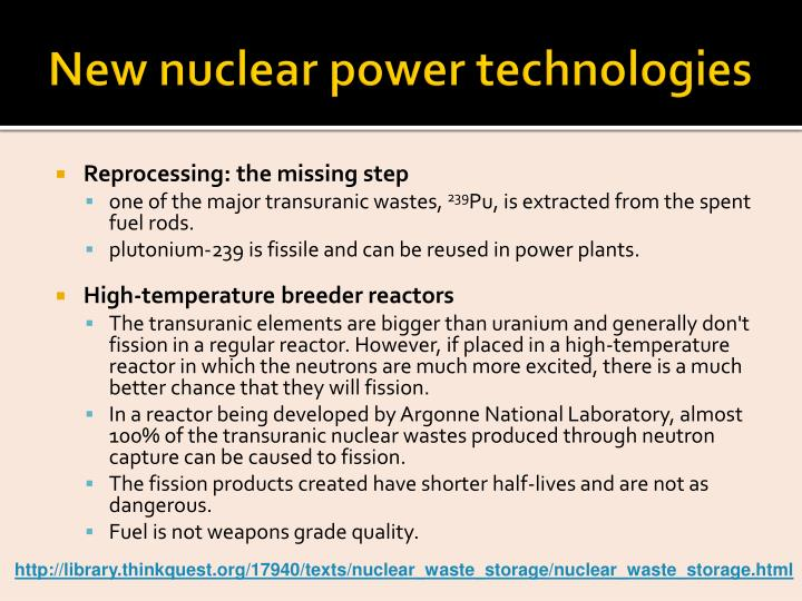 New nuclear power technologies