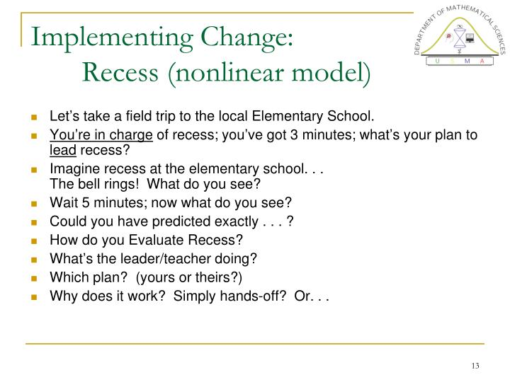 Implementing Change: