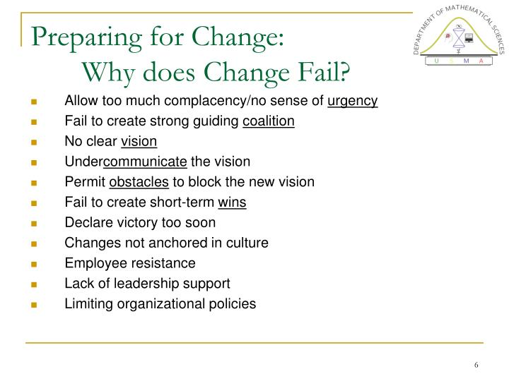 Preparing for Change: