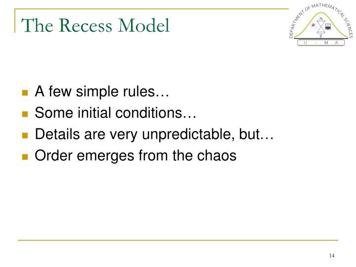 The Recess Model