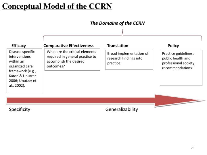 Conceptual Model of the CCRN