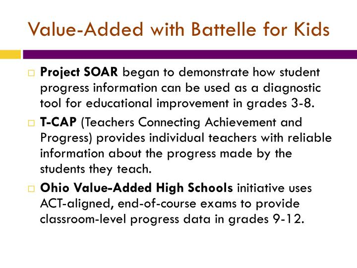 Value-Added with Battelle for Kids