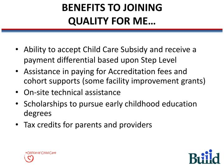 BENEFITS TO JOINING