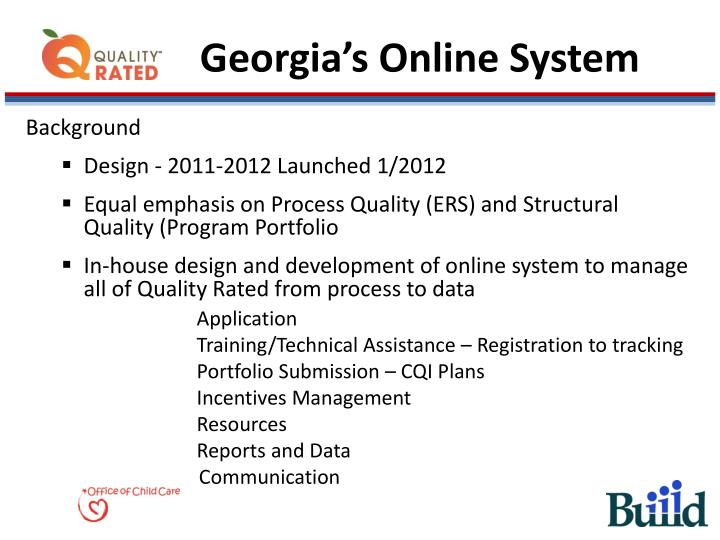 Georgia's Online System
