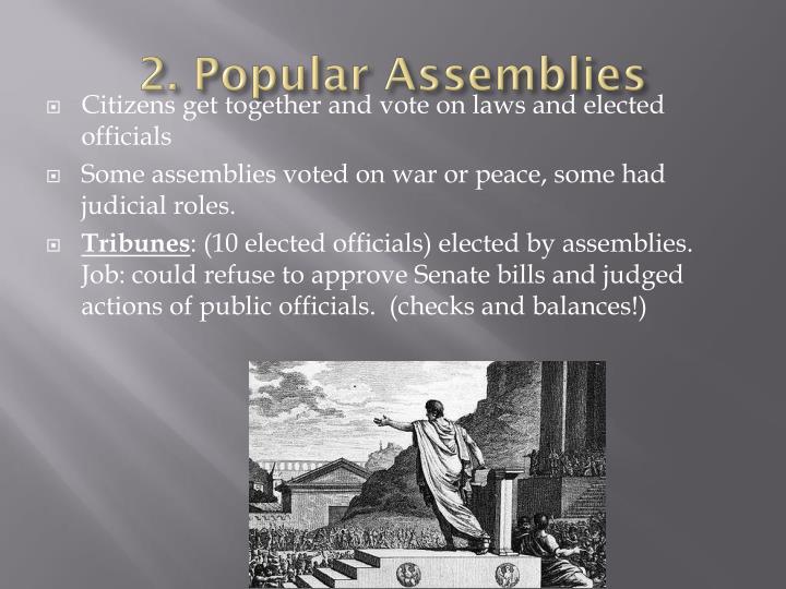 2. Popular Assemblies