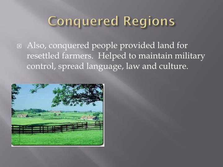 Conquered Regions
