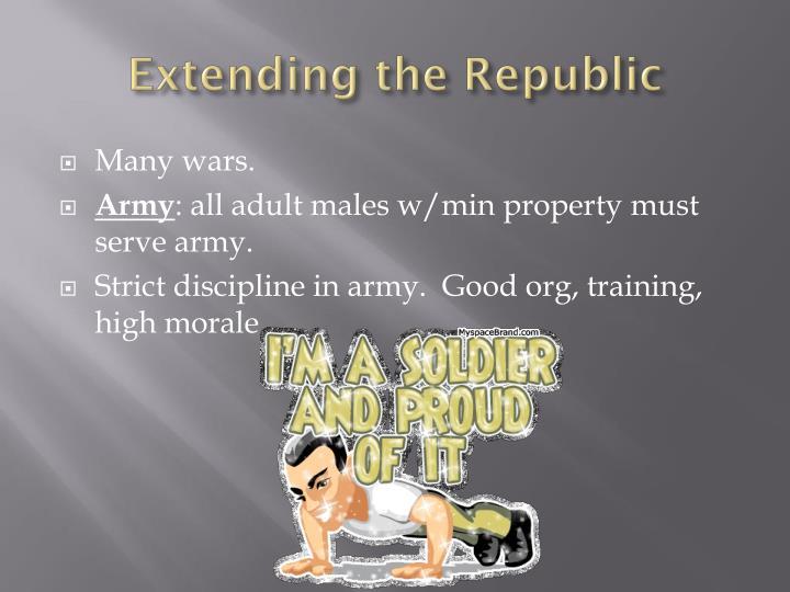 Extending the Republic