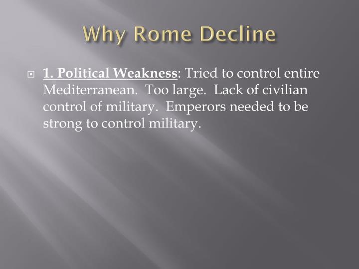 Why Rome Decline