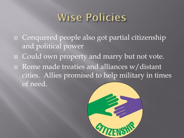 Wise Policies