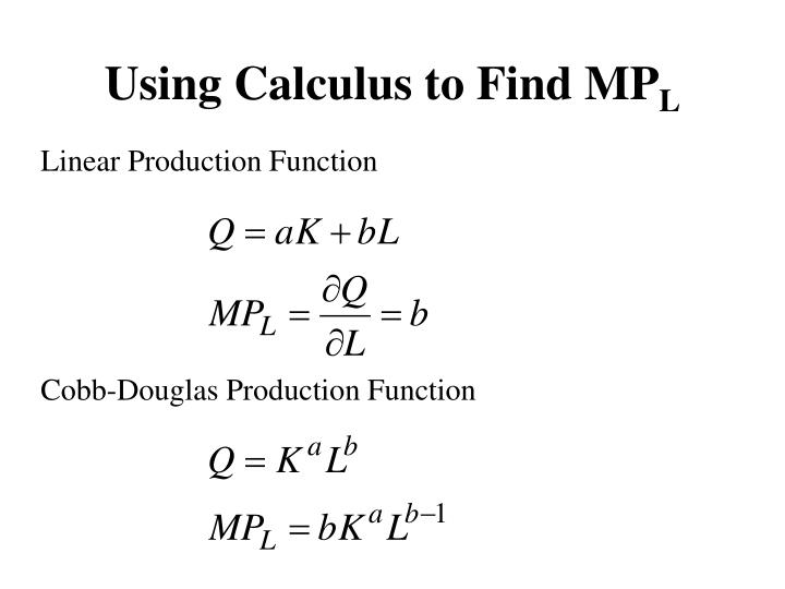Using Calculus to Find MP