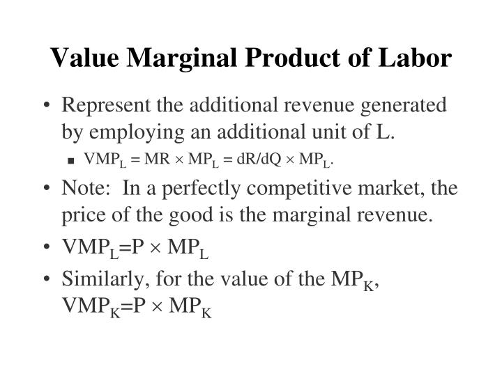Value Marginal Product of Labor