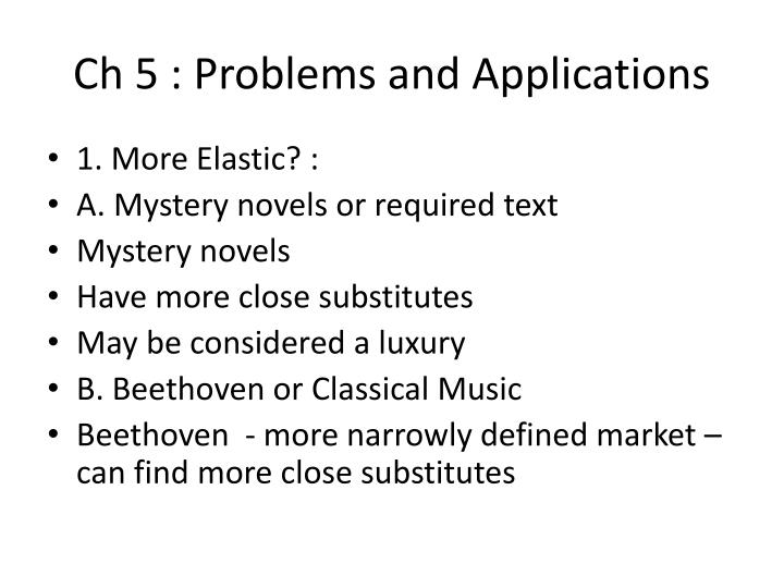 ch 5 problems and applications n.