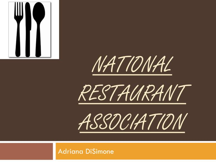 national restaurant association n.