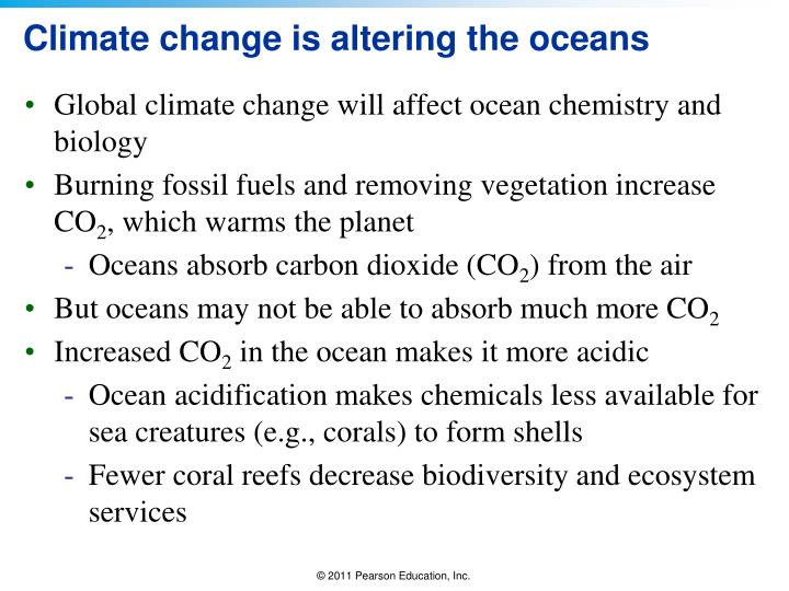 Climate change is altering the oceans