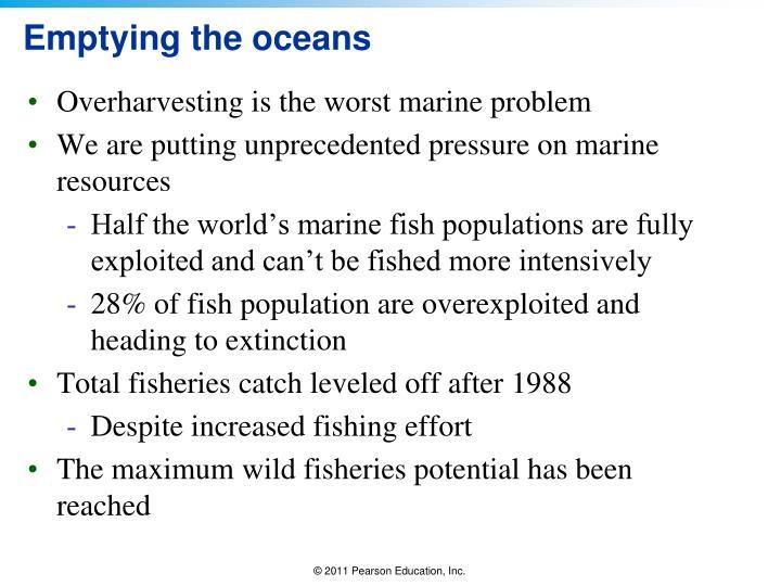 Emptying the oceans