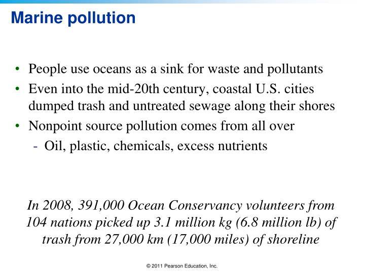 Marine pollution