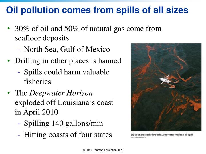 Oil pollution comes from spills of all sizes