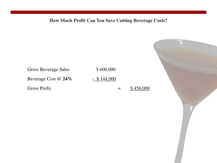 How Much Profit Can You Save Cutting Beverage Costs?