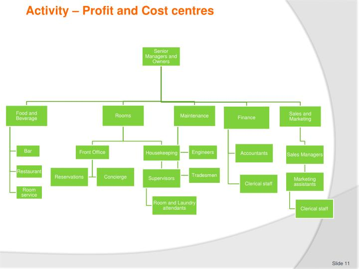Activity – Profit and Cost centres