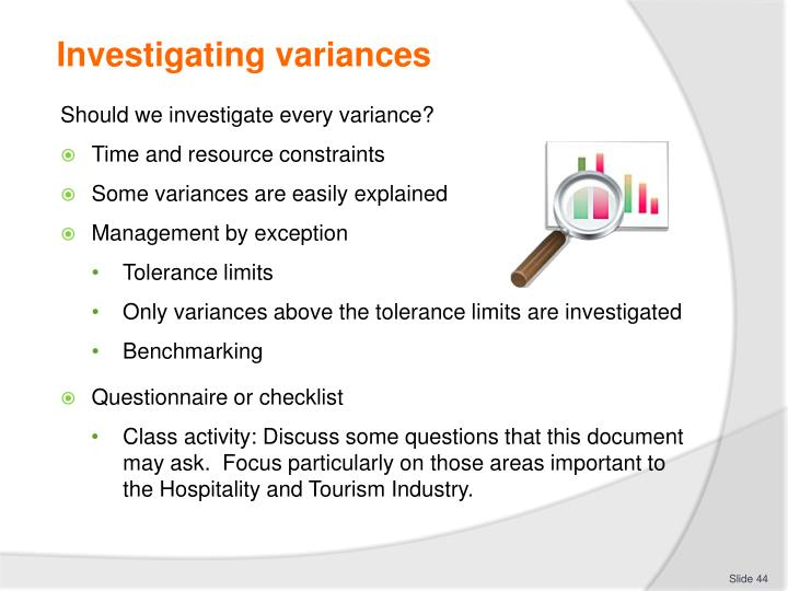 Investigating variances
