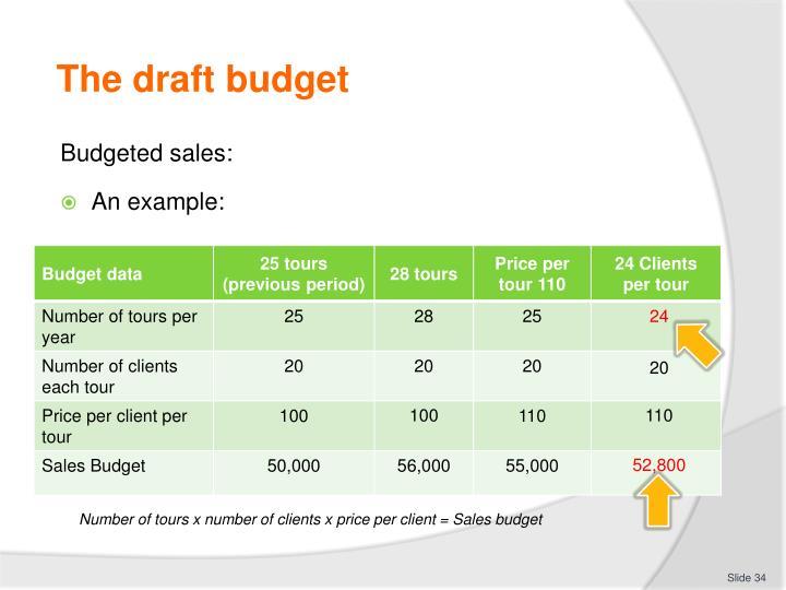 The draft budget