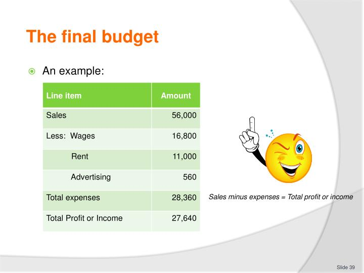 The final budget