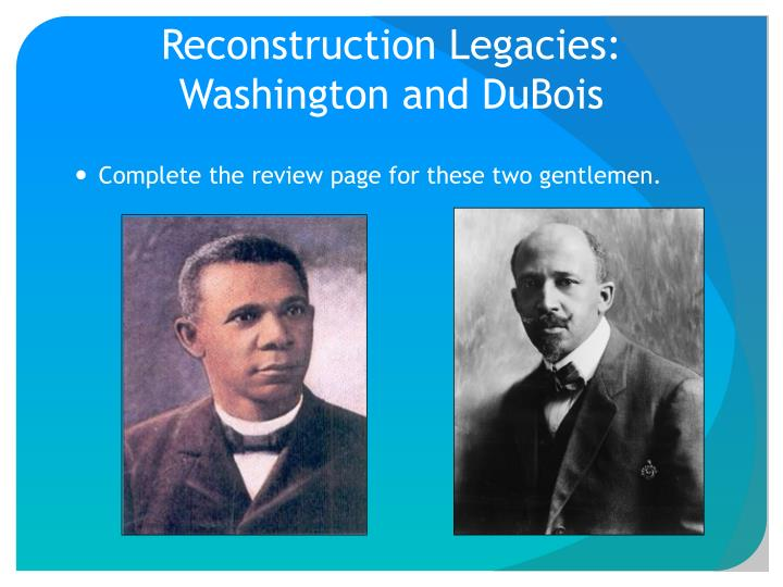 montessori washington and dubois' recommendation for