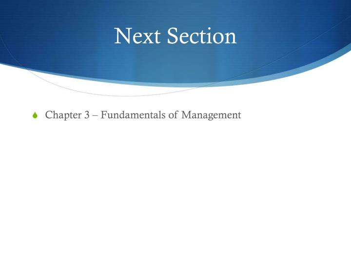 Next Section