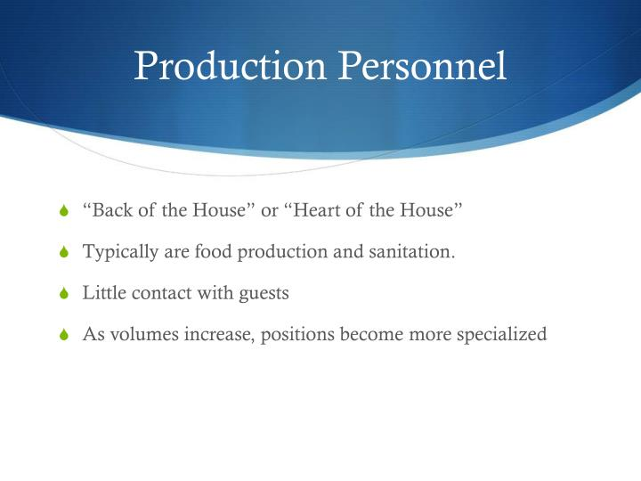 Production Personnel