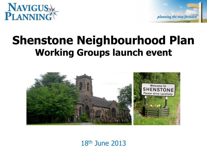 shenstone neighbourhood plan working groups launch event n.