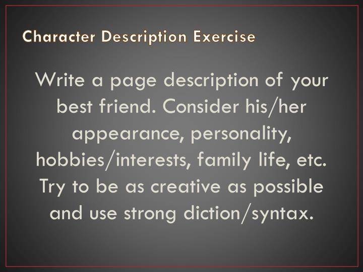 Character Description Exercise