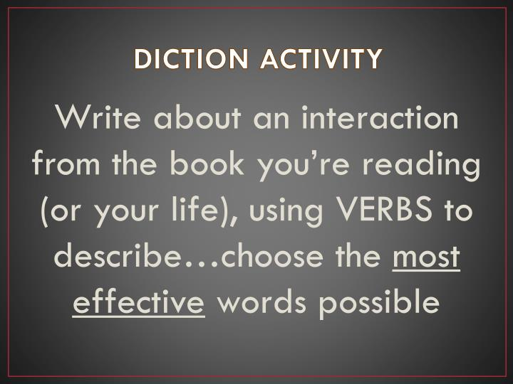DICTION ACTIVITY