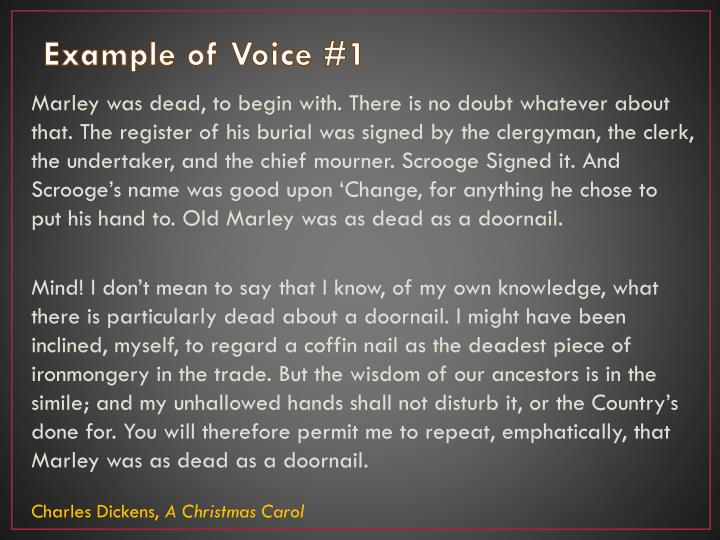 Example of Voice #1