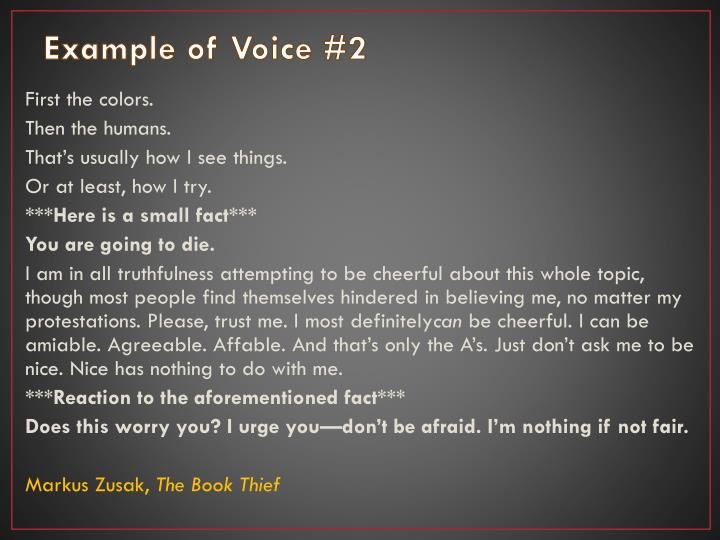 Example of Voice #2