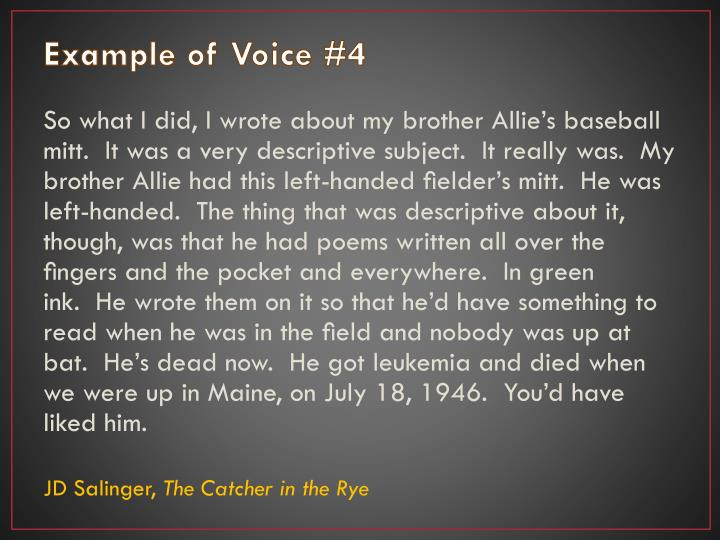Example of Voice #4