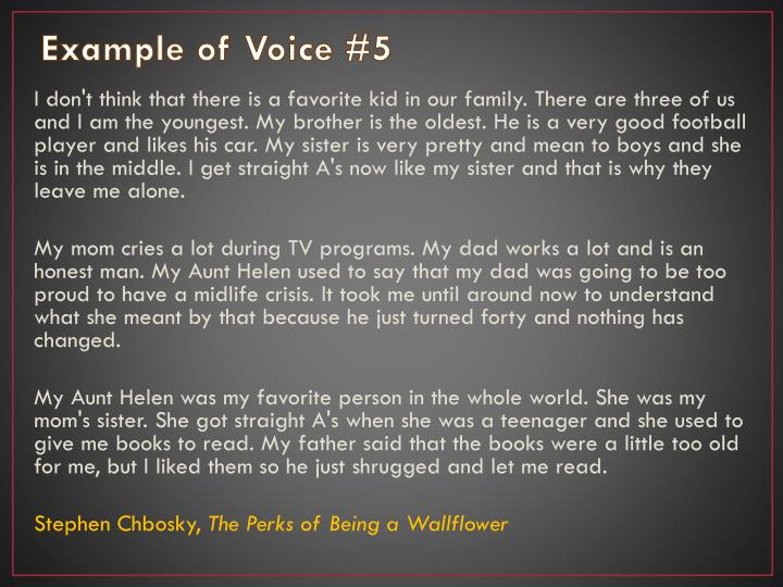 Example of Voice #5