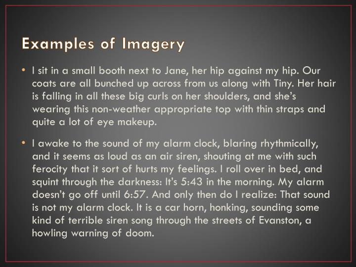 Examples of Imagery