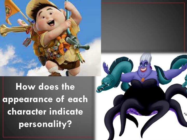 How does the appearance of each character indicate personality?